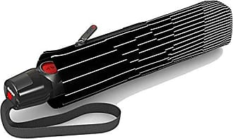 Knirps T200 Compact DuoMatic Wind Resistant Auto Open/Close Full Umbrella, Black White