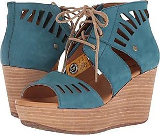 CAT Womens Alma Ghillie Tie Platform Wedge Sandal, Legion Blue, 8.5 Medium US
