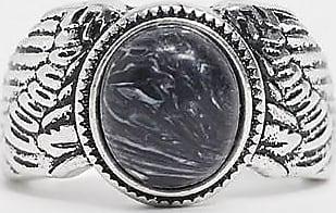 Icon Brand Anello argento con pietra blu