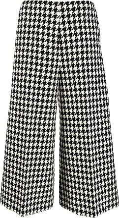 Gucci Pantalón culotte blanco y negro