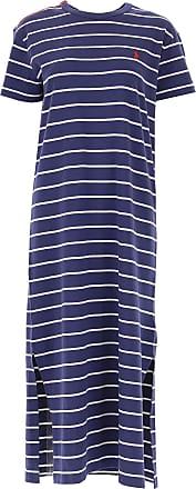 ac60018de8f260 Ralph Lauren Kleid für Damen Günstig im Sale, Nachtblau, Baumwolle, 2017, L