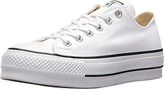Converse Womens Lift Canvas Low Top Sneaker, Black/White, 10.5 M US