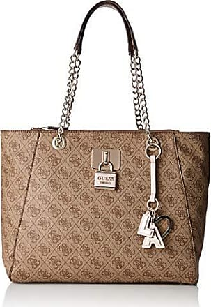 964952c689 Guess Downtown Cool Tote, femme, Multicolore (Brown), 38x28x12.5 cm