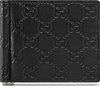 Gucci Portafoglio fermasoldi in pelle Gucci Signature