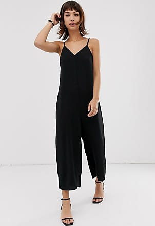 Warehouse cami jumpsuit in black