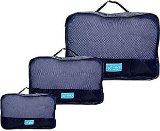 Yin's Kit 3 Necessaire Organizador Bagagem Mala Viagem Azul YS27064