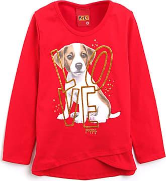 KYLY Blusa Kyly Infantil Cachorro Vermelha
