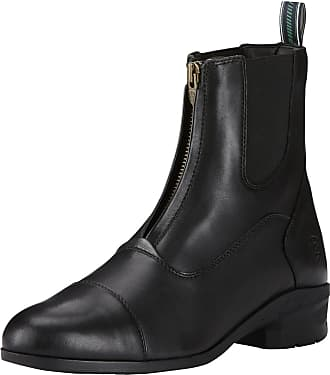 Ariat Mens Heritage IV Zip Paddock Boots in Black Leather, EE Wide Width, Size 8.5, by Ariat