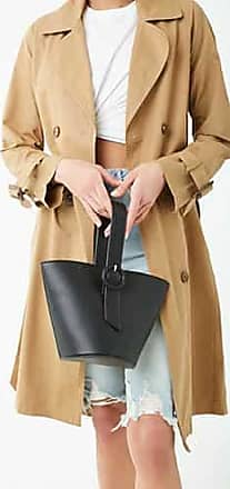 Forever 21 Forever 21 Double-Breasted Trench Coat Tan