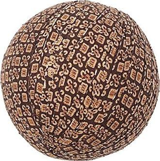 VHC Brands Rustic & Lodge Decor - Tacoma Brown 10 Round Fabric Ball Set of 3, Dark