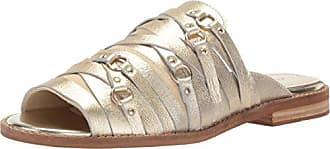 Kelsi Dagger Womens Slope Flat Sandal, Platinum, 9.5 M US