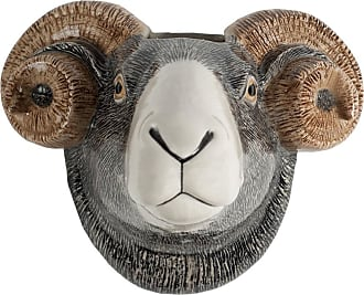 Quail Ceramics Sheep Wall Vase - Grey/White