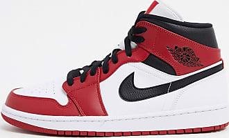 Nike Jordan Nike - Air Jordan 1 - Mittelhohe Sneaker in Weiß/Rot