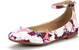 Dream Pairs Womens Sole-Nice Floral Ankle Strap Walking Flats Shoes Size 9.5 US/ 7.5 UK