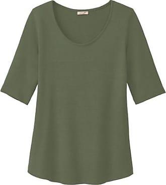 Enna Halbarmshirt aus Bourrette-Seidenjersey, steingrün