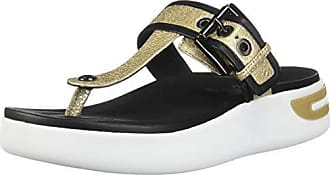 fe259b6cb1789 Geox Womens Ottaya B Sandal, Gold/Black, 37 M EU (7 US