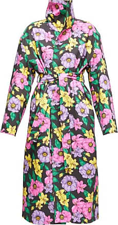 Balenciaga Belted Floral-print Cotton-twill Trench Coat - Womens - Multi