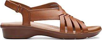 Clarks Womens Sandal Tan Leather Clarks Loomis Cassey Size 6.5
