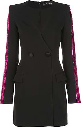 DAVID KOMA sequin blazer dress - Black
