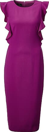 Madeleine Ärmelloses Kleid mit fließenden Volants in lila MADELEINE Gr 34, purpleviolett für Damen. Polyester. Waschbar