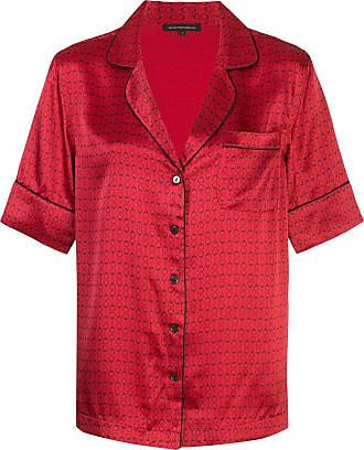 Kiki De Montparnasse handcuff print pyjama set - Red
