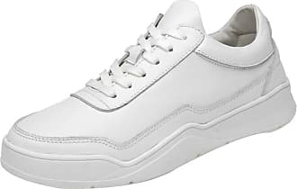 ICEGREY Mens Casual Leather Flats Lace-up Slip Resistant Sneakers White,9.5