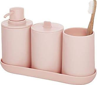InterDesign Cade 4-Piece Bathroom Accessory Set, Blush