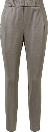 Fabiana Filippi Wollhose mit elastischem Bund Grau