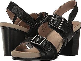 Hush Puppies Womens Leonie Mariska Heeled Sandal, Black Leather, 9 M US