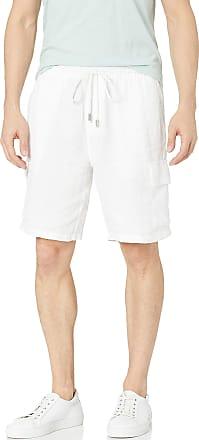 Vilebrequin Mens Solid Linen Bermuda-XXXL Shorts, White, 3X-Large