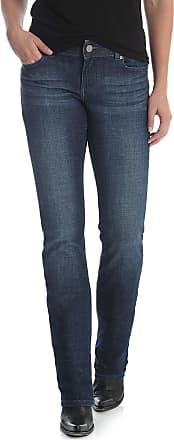 Wrangler womensWestern Mid Rise Stretch Straight Leg Jean Jeans - Blue - 13x32