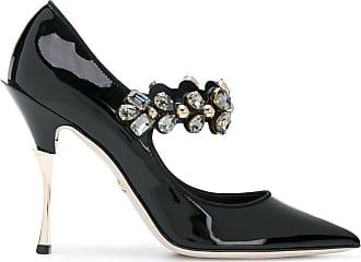 Dolce & Gabbana Sapato de couro envernizado com aplicações - Preto