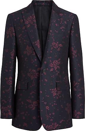 Burberry Slim Fit Silk Wool Matelassé Evening Jacket - Blue