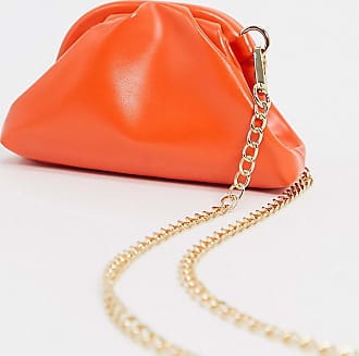 Glamorous Exclusive mini pillow clutch bag in orange with detachable strap