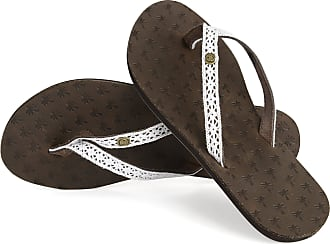Urban Beach Ladies Iona FW914 Toe Post Beach Flip Flops Sandals Shoes Leather (Size 8)