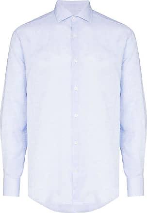 Frescobol Carioca Camisa de linho com botões - Azul