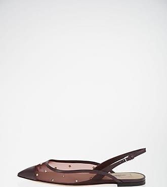 Valentino GARAVANI Slingback Ballet Flat ROCKSTUD with Mesh Detail size 35,5