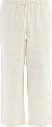 11.11 / eleven eleven 11.11 / Eleven Eleven - Straight-leg Organic-cotton Khadi Trousers - Mens - Cream