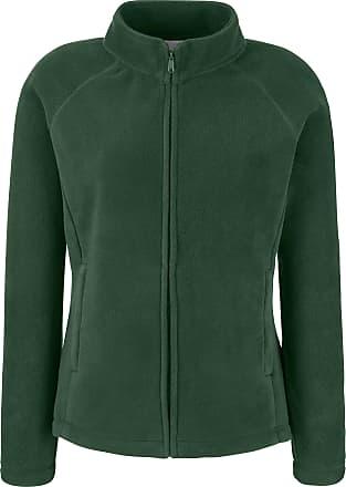 Fruit Of The Loom Womens Lady Fit Outdoor Fleece Jacket Bottle Green XL