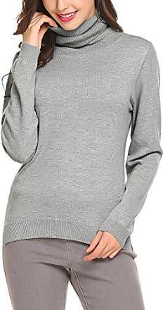 Damen Pullover Sweatshirts Frauen Stehkragen Strickpullover