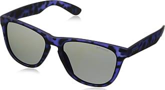 Polaroid Mens P8443 JY FLL Sunglasses, Matte Blue/Grey Blue Mirror Polarized, 55