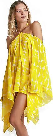 Empress Brasil Kaftan Empress Brasil Bardot Estampa Leblon Amarelo