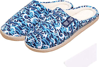 Cosstars Sea Wave Anime Anti-slip Home Slippers Cute Plush Warm Indoor Shoes
