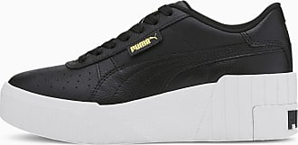 Puma Cali Wedge Womens Trainers, Black/White, size 3.5, Shoes