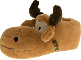 Footwear Studio De Fonseca Boys Mens Brown Reindeer/Moose Novelty Animal Slippers 4-5 UK (37-39 EUR)
