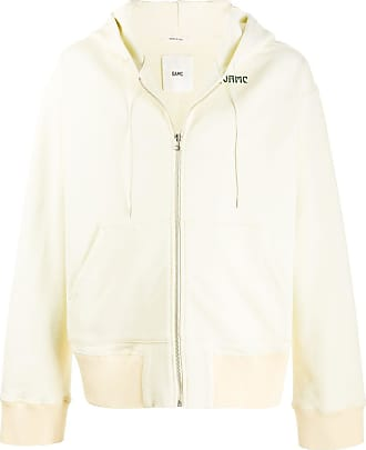 OAMC zip up art nouveau print hoodie - Yellow