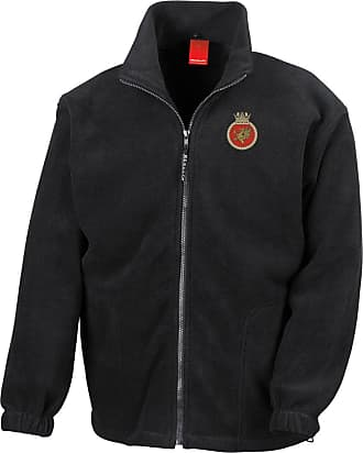 Military Online HMS Protector Embroidered Logo - Official Royal Navy Full Zip Heavyweight Fleece Jacket