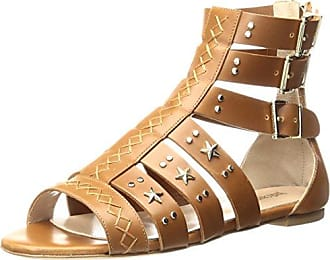 Just Cavalli Womens Cow LTH with Studs Gladiator Sandal, Caramel, 36 EU/6 M US