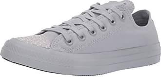 8e68b17b4207 Converse Womens Unisex Chuck Taylor All Star Glitter Accent Low Top Sneaker  Wolf Grey Silver