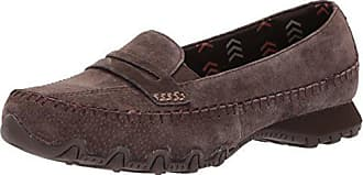 Skechers Womens Bikers Lane Penny Loafer,chocolate,6.5 M US